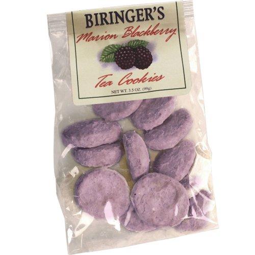 Gourmet Tea Cookies - Marion Blackberry Flavor - by Biringer's Farm Fresh, 3.5oz Bag (Pack of 6)