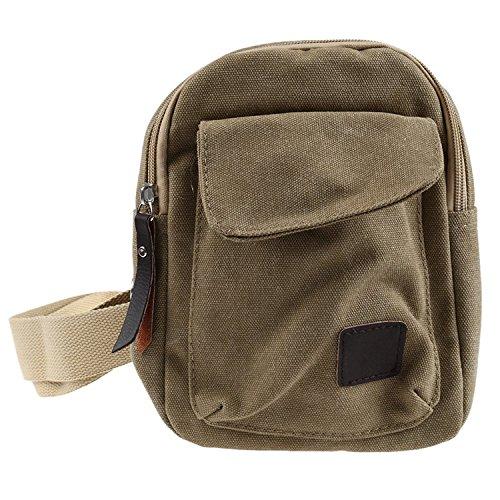 Messenger Bag D'epoca Militare Verde Casuale Di r Crossbody Biciclette Spalla Piccola Trekking Sacchetto Kaki Tela Toogoo Uomini vORzfx4nx