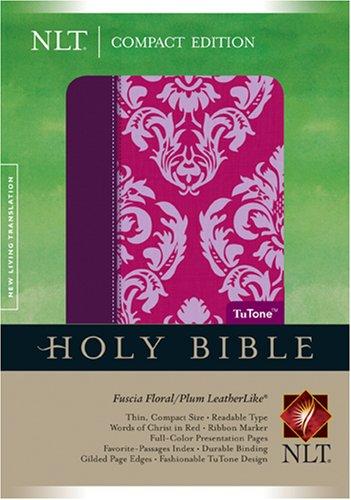 Compact Edition Bible NLT, Floral TuTone (LeatherLike, Fuchsia (Skagit Compact)