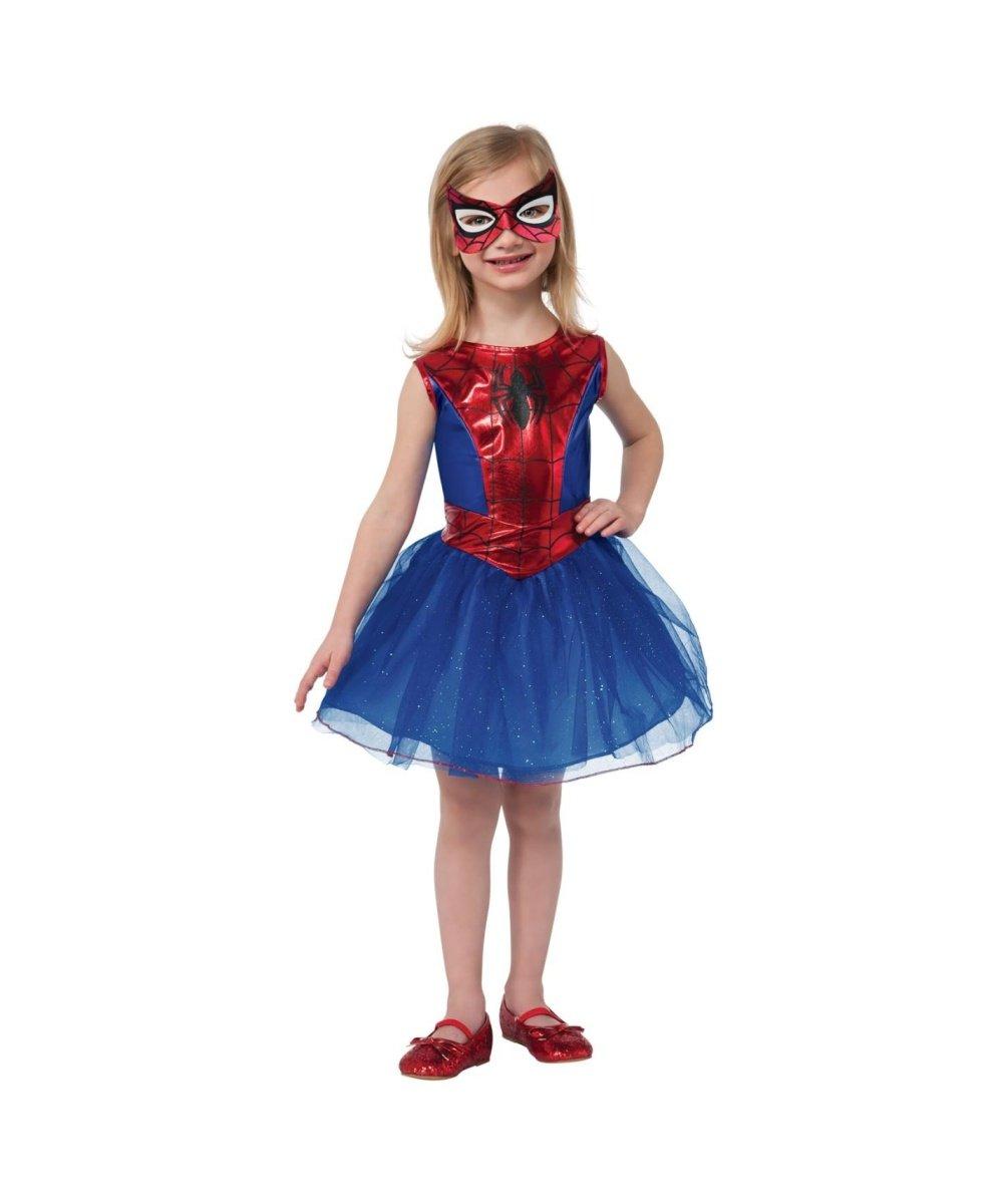 - 51MP2IIGlsL - Marvel Spiderman Spidergirl Girls Dress Tutu Halloween Play Costume