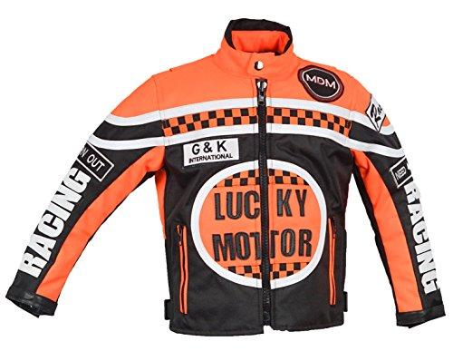 MDM Kinder Motorrad Jacke, Racing Jacke