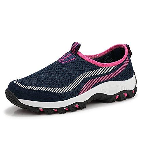 Deportivos Malla Mujer Madre de de de Zapatos de de Fondo Zapatos Red de Zapatos Suave Zapatos Zapatos Dark Hasag blue Verano Transpirable Casuales Zapatos Antideslizantes qY1CfC