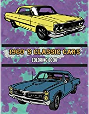 1960's Classic Cars Coloring Book
