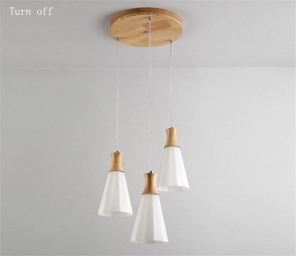 FANDBO@ Stilvolle Gummi Holz Glas Metall E27 führte Hängelampe Hängelampe Hängelampe - Pendelleuchte für Küche Wohnzimmer   Esszimmer Schlafzimmer (größe   B) f4711d