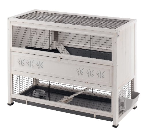Ferplast Cottage Rabbit Hutch, Large, 129 x 68 x 103.5 cm