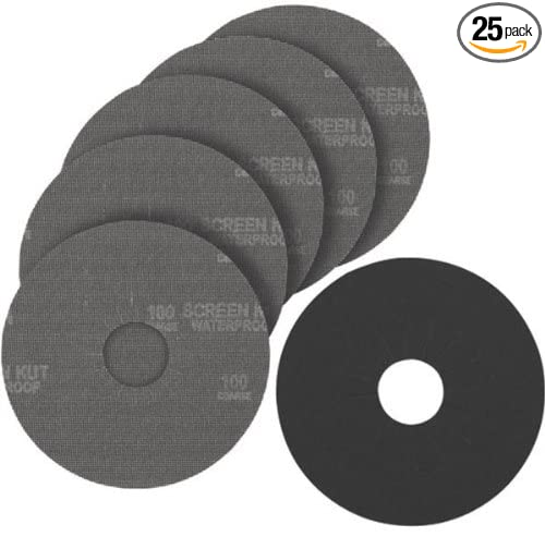 PORTER-CABLE 79180-25 9-Inch 180G Hook and Loop Abrasive Disc 25-Pack
