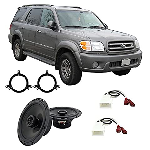 Fits Toyota Sequoia 2003-2007 Front Door Factory Replacement Harmony HA-R65 Speakers New (2006 Toyota Sequoia Speakers)