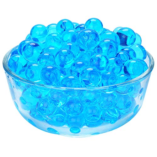 (LOVOUS 3000 Pcs Water Beads, Crystal Soil Water Bead Gel, Wedding Decoration Vase Filler - Furniture Decorative Vase Filler, All Occasion Table Centerpiece Decorations (Blue))