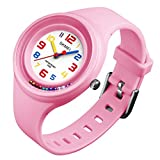 Boys Girls Watches Wristwatches,2018 New''Ball Game On The Wrist'' Super Soft Band Student Age 11-15 7-10 Wristwatches Best Gift for Teenagers Girls Boys Kids Children(Pink)