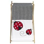 Sweet Jojo Designs Baby and Kids Clothes Laundry Hamper for for Ladybug Polka Dot Bedding Set