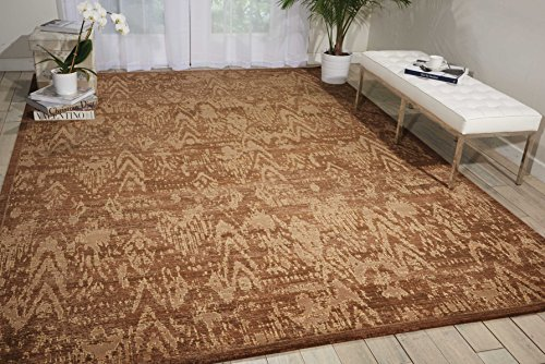 Nourison Silken Allure (SLK17) Chocolate Rectangle Area Rug, 8-Feet 6-Inches by 11-Feet 6-Inches (8'6
