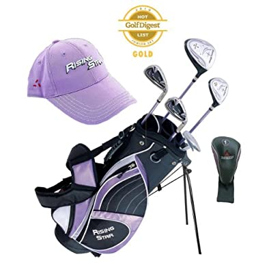 Paragon Rising Star Girls Kids Golf Clubs Set / Ages 8-10 Lavender With Free Golf Gift
