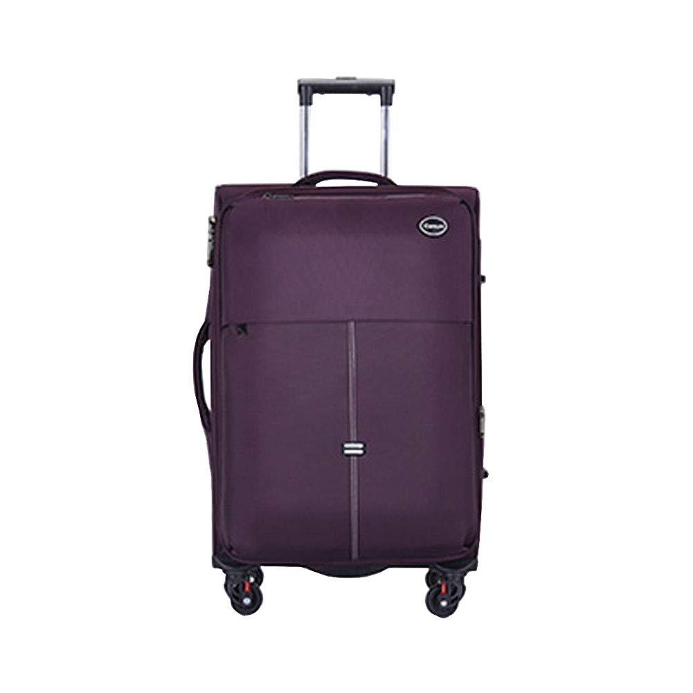 Luggage Lightweight Expandable Waterproof Softshell Carry On Luggage Suitcase Business Boarding The Chassis with 4 Spinner Wheels Telescoping Handle 20in24in for Men and Women Travel(Purple,24-inch) YHJM