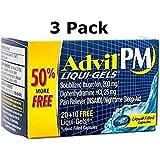 Advil PM Ibuprofen Pain Reliever Liquid-Gels (90 Count)