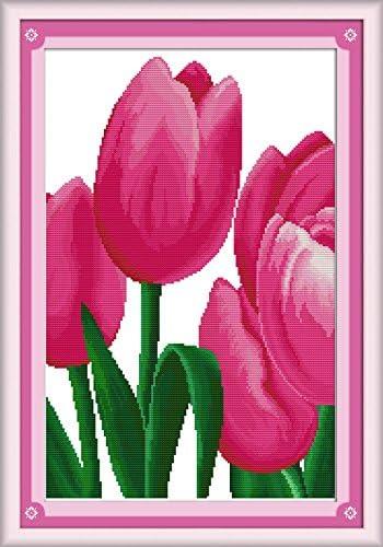 Kit de point de croix Motif tulipes