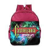 Castlevania Logo Children Backpack Pink Bag
