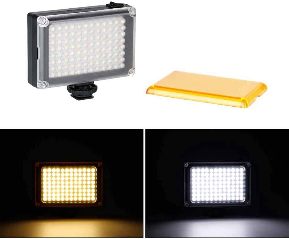 Portable Camera Photo Light Panel On Camera Video Light Support Battery or USB Power Supply 3200K// 5400K LED Dimmable Light
