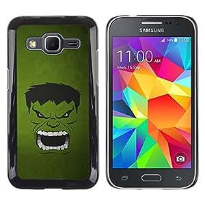ROKK CASES / Samsung Galaxy Core Prime SM-G360 / GREEN MONSTER / Delgado Negro Plástico caso cubierta Shell Armor Funda Case Cover