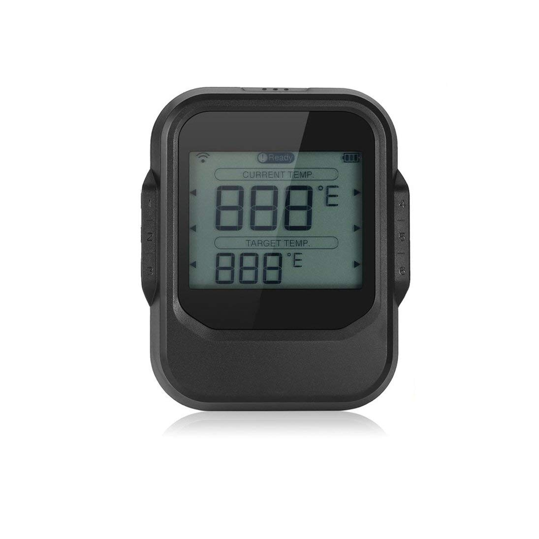 Baynne New Food Cooking Bluetooth Wireless BBQ Thermometer Six Probes and Timer