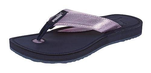 8d89fb27401c7 PUMA Drifter Metallic Womens Leather Flip Flops/Sandals-Pink-5.5 ...