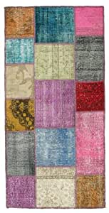 Alfombra patchwork 100x200 alfombra moderna hogar - Alfombras cocina amazon ...