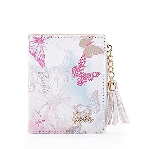 Barbie Fashion Princess Series Sweet Simple Flowers&butterfly Pattern tassel Women Purse #BBPS019.01A