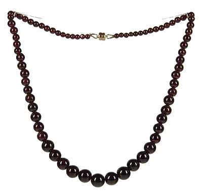 Amazoncom Garnet Round Graduated Necklace 14K Gold Filled Magnetic
