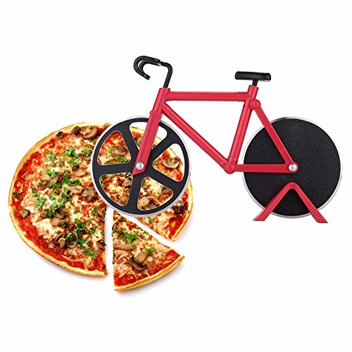 - Z-COLOR 1pcs Pizza Cutter Red Bicycle Bike Pizza Cutter Wheel Kitchen utensils pizza baking bar Tools