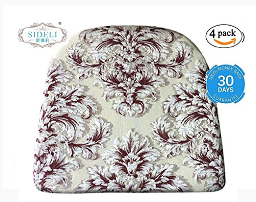 """Sideli Foam Kitchen Chair Pads Non slip 16""""x16"""" - Set of 4(4, COLOR5) (Slipcovers Chair Kitchen Table)"""