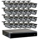 GW Security 32-Channel 2.5K HD (5MP) Complete Security System with (24) x True HD 5MP 1920P Outdoor/Indoor 2.8-12mm Varifocal Zoom Bullet Security Cameras and 8TB HDD, QR Code Scan Free Remote View For Sale
