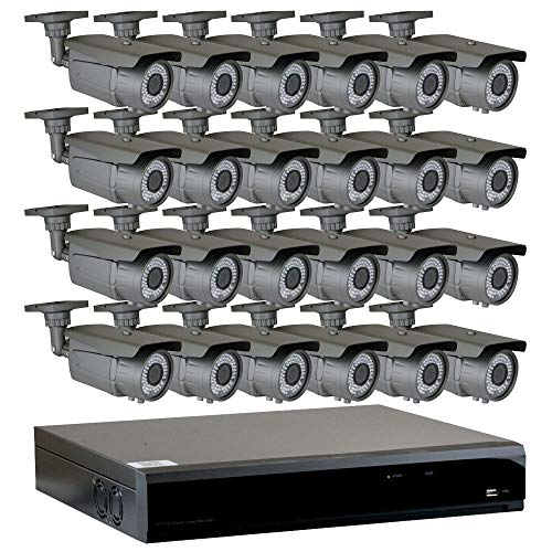 GW Security 32-Channel 2.5K HD 5MP Complete Security System with 32 x True HD 5MP 1920P Outdoor Indoor 2.8-12mm Varifocal Zoom Bullet Security Cameras and 8TB HDD, QR Code Scan Free Remote View