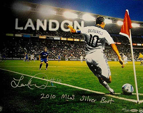 Landon Donovan Autographed Photo - 16x20 2010 Silver Boot Award x 110 - Autographed Soccer Photos