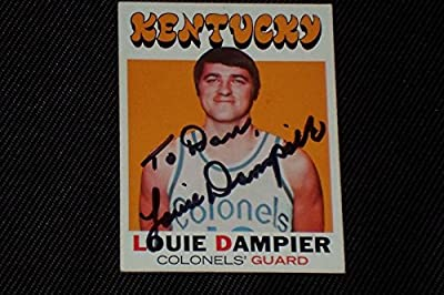 Hof Louie Dampier 1971-72 Topps Rookie Signed Autographed Card #224 Kentucky - Basketball Slabbed Rookie Cards