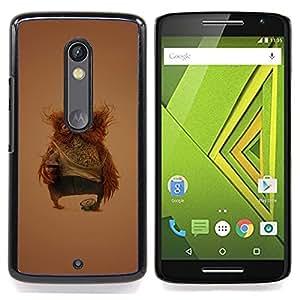- Funny Weird Owl/ Hard Snap On Cell Phone Case Cover - Cao - For Motorola Verizon DROID MAXX 2 / Moto X Play