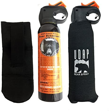Udap 2 Personal Defense Bear Sprays w Holsters 12VHP