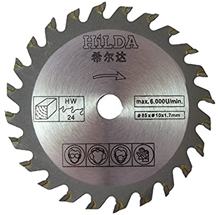 Hoja de sierra circular para WorkZone Mini sierra circular (por ALDI) 85 mm de