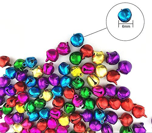 - Coolrunner 6mm Different Color Assorted Fashion Jingle Bell/Small Bell/Mini Bell for DIY Bracelet Anklets Necklace Knitting/Jewelry Making Accessories 100pcs