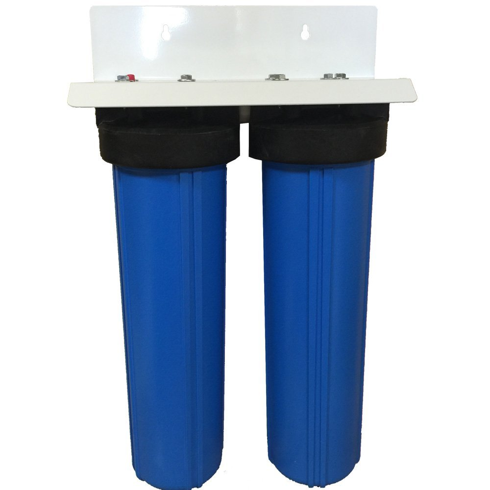 2-Stage 20 Big Blue Whole House Water Filter System Sediment and Carbon Filters