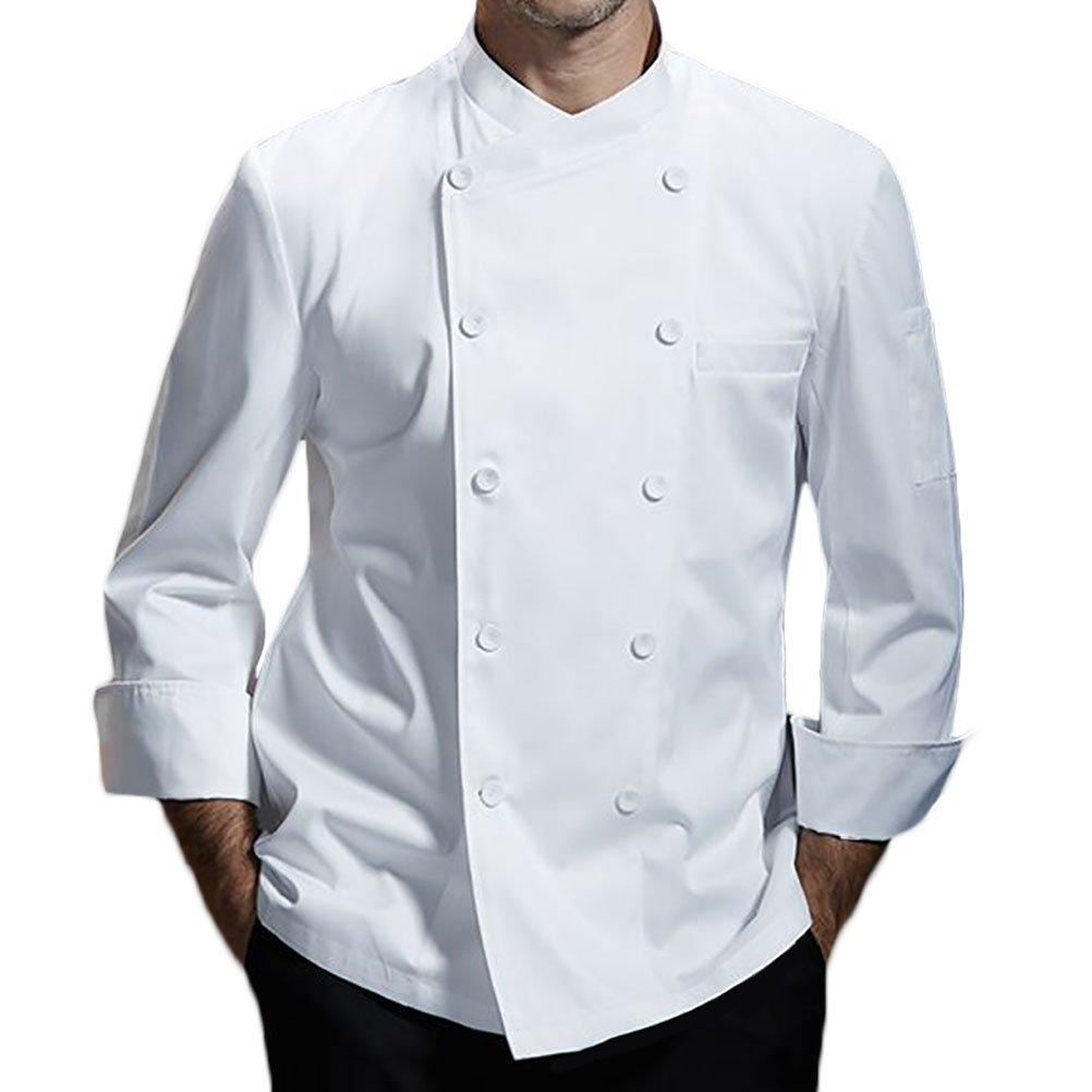 Nanxson Kitchen Cotton Uniform Chef Working Coat with Air Mesh CFM0028