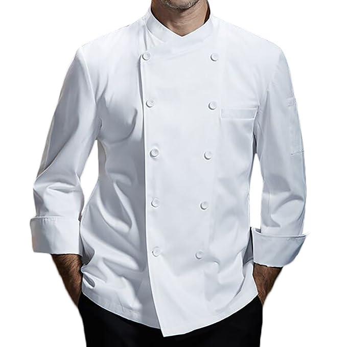 Nanxson Chaqueta de Chef para Hombre de algodón Transpirable Uniforme de Cocina Ropa de Trabajo CFM0028