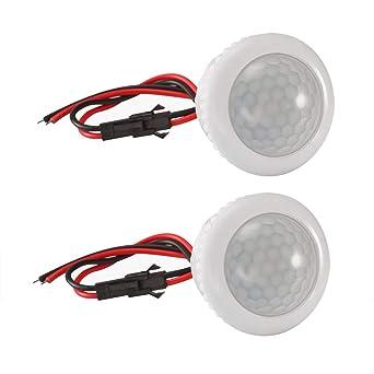Interruptor de sensor de movimiento PIR Interruptor de sensor LED Detector PIR Detector de sensor automático