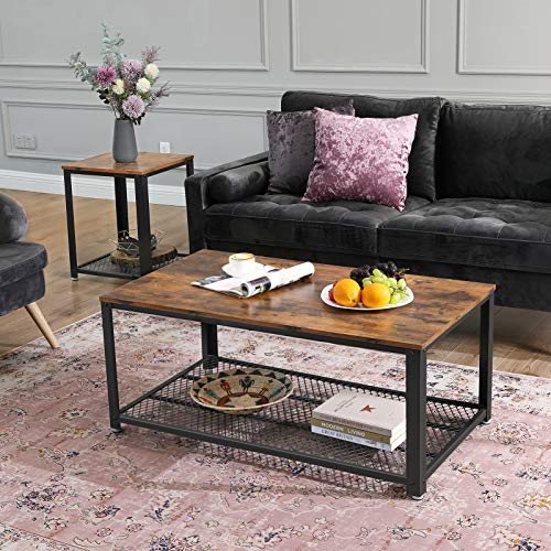 home, kitchen, furniture, living room furniture, tables,  coffee tables 10 image VASAGLE Industrial Coffee Table with Storage Shelf for deals