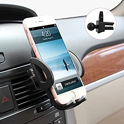 M-BETTER Universal Smartphones Car Air Vent Mount Holder Cradle Compatible with iPhone 7 7 Plus SE 6s 6 Plus 6 5s 5 4s 4 Samsung Galaxy S6 S5 S4 LG Nexus Sony Nokia and More (Black) from M_BETTER