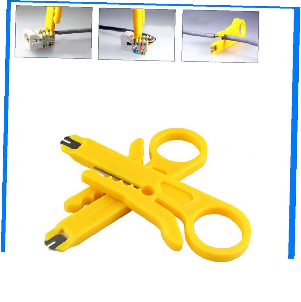 Beito Herramienta Alambre de Down Mini separadores de Corte de Cable de tel/éfono Pelacables rotativo Perforaci/ón de Red UTP Cortador de Cable Pu/ñetazo