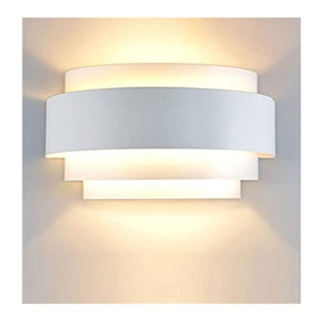 Lightess Applique Murale Led 5w Interieur Moderne Demi Cylindre Up
