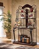 Dark Brown Bakers Rack by Ashley Furniture