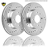 New Duralo Drilled Slotted Front Brake Rotor Kit For Nissan 200SX & Sentra B14 - Duralo 152-3370 New