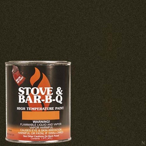 Stove Bright TI-8146 High Temperature Brush On Paint, 1200 Degree F Operating Temperature Range, 12 oz Aerosol, Goldenfire Brown