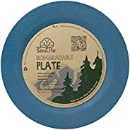 Ecosoulife Biodegradable Dining Side Plates (7.8&q
