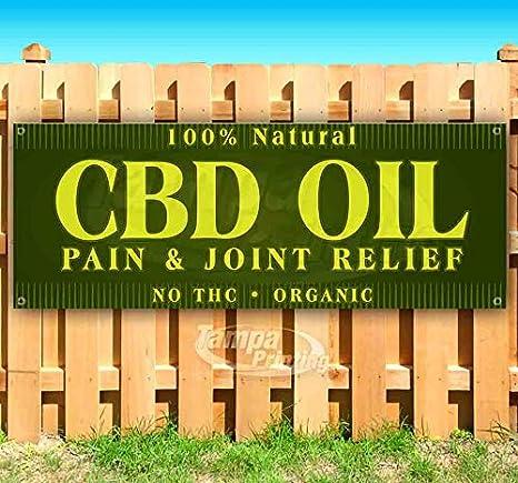 CBD OIL SOLD HERE Advertising Vinyl Banner Flag Sign Many Sizes ALL NATURAL
